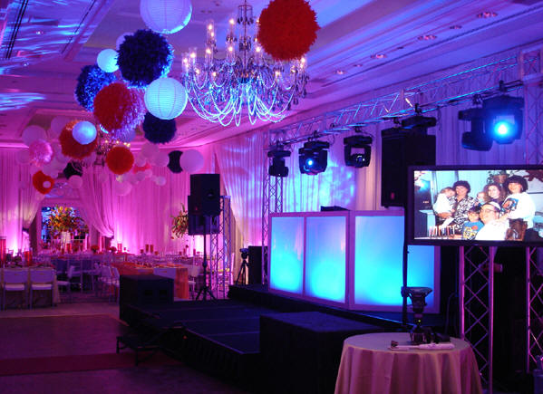 How lighting an outdoor wedding party can make a difference use color aloadofball Images