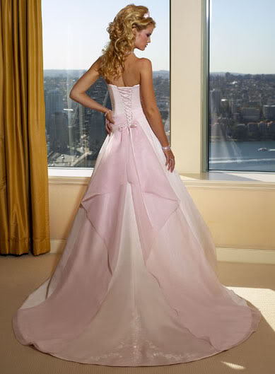 Pink and white wedding dresses buy