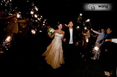 Sparkler Exit, West Park Winery, photo by Bill Wang Photography