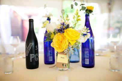 Chalkboard wine Bottle Table Numbers, Red Maple Vineyard