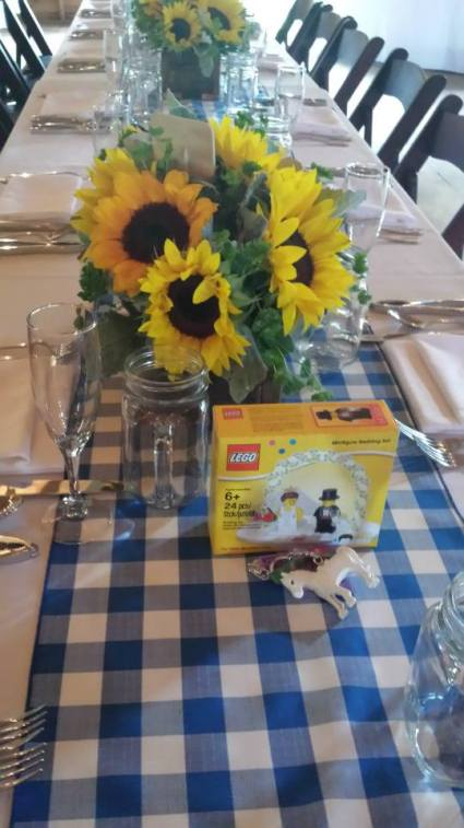 Sunflowers and Legos