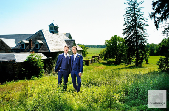 Eric and Kyle at Grasmere Farm in Rhinebeck, NY